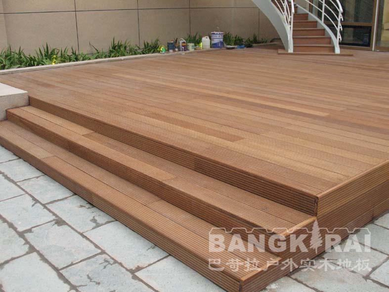 户外重竹木地板台阶