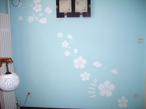 沈阳江南水乡手绘墙画156