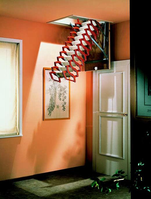 电动阁楼伸缩楼梯 阁楼隐形楼梯 东莞阁楼楼梯设计