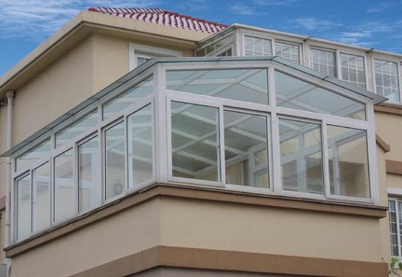 露台断桥铝门窗,阳台玻璃房定制