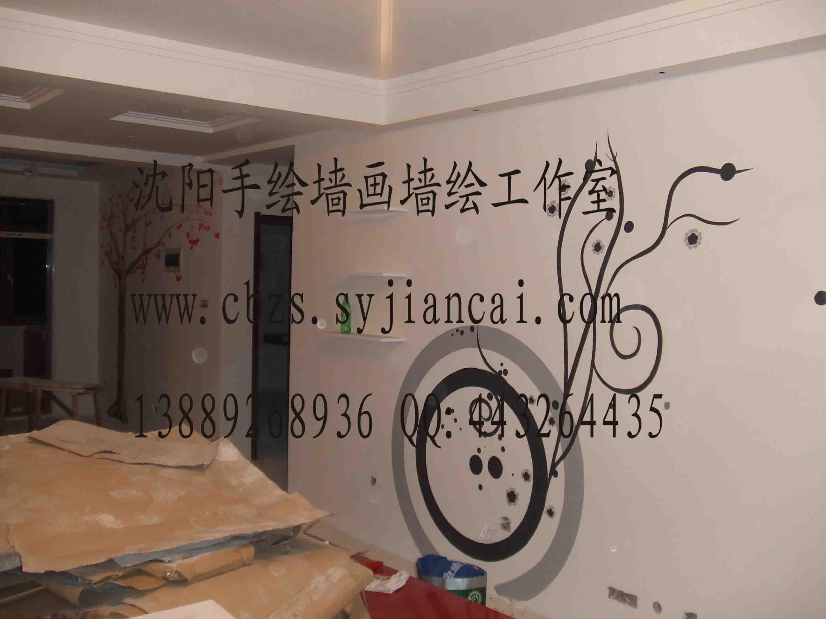 沈阳客厅墙画-063,沈阳画欣手绘墙画专业团队_装饰