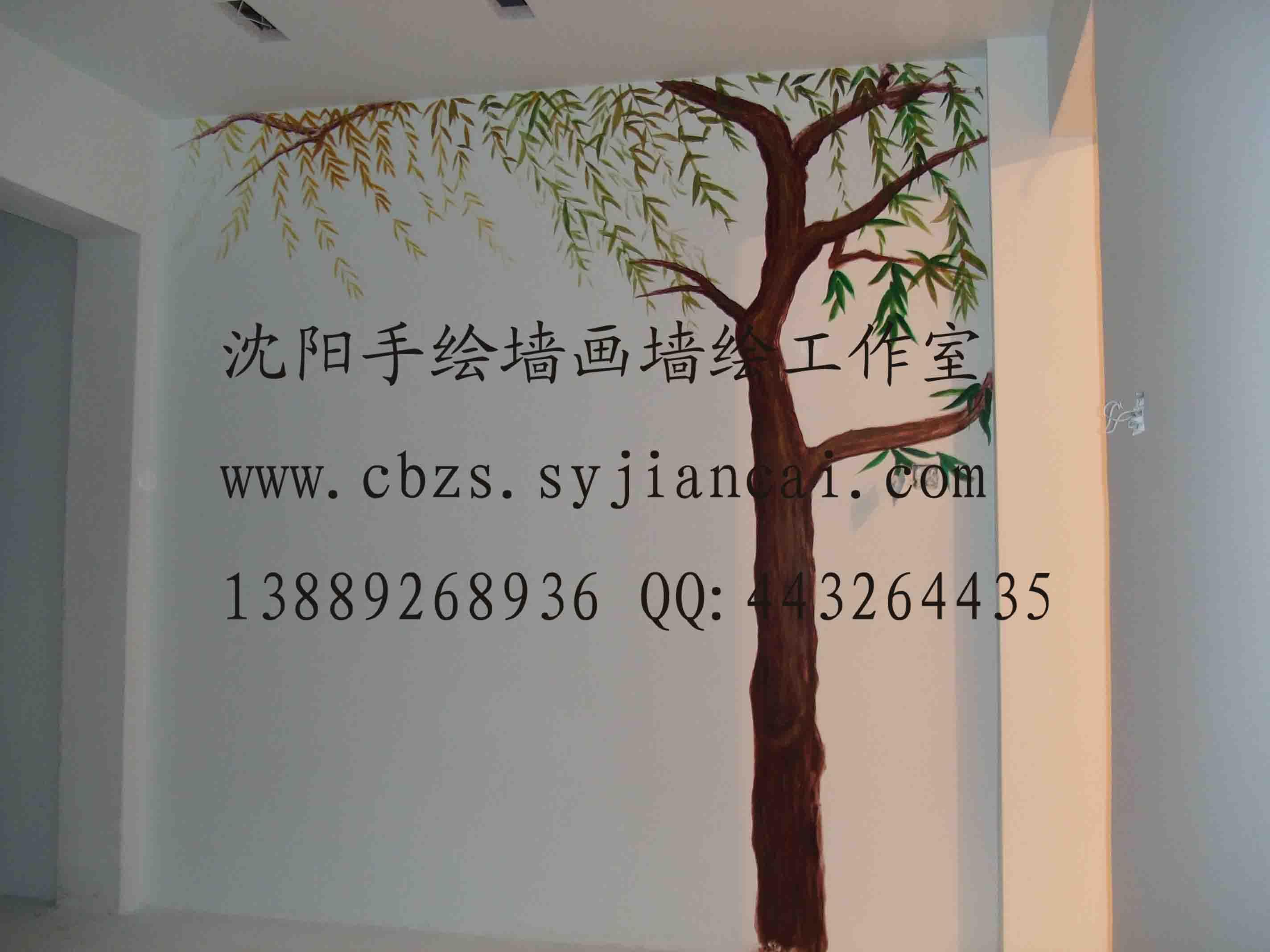 沙漠风景手绘背景558,沈阳画欣手绘墙画/墙体彩绘/墙