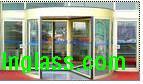 制作安装旋转门白钢门玻璃门