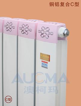 銅鋁復合C型散熱器
