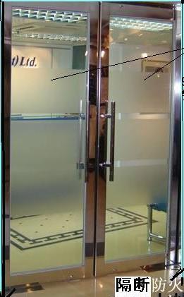 白钢玻璃门
