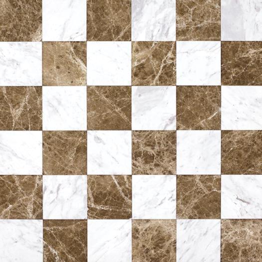 复合大理石砖—浅啡拼爵士白