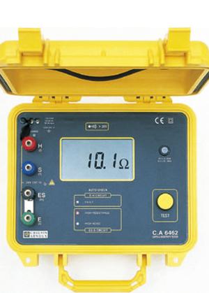 接线端子采用不同颜色设计,方便接线识别  ca6462数字式接地电阻测试