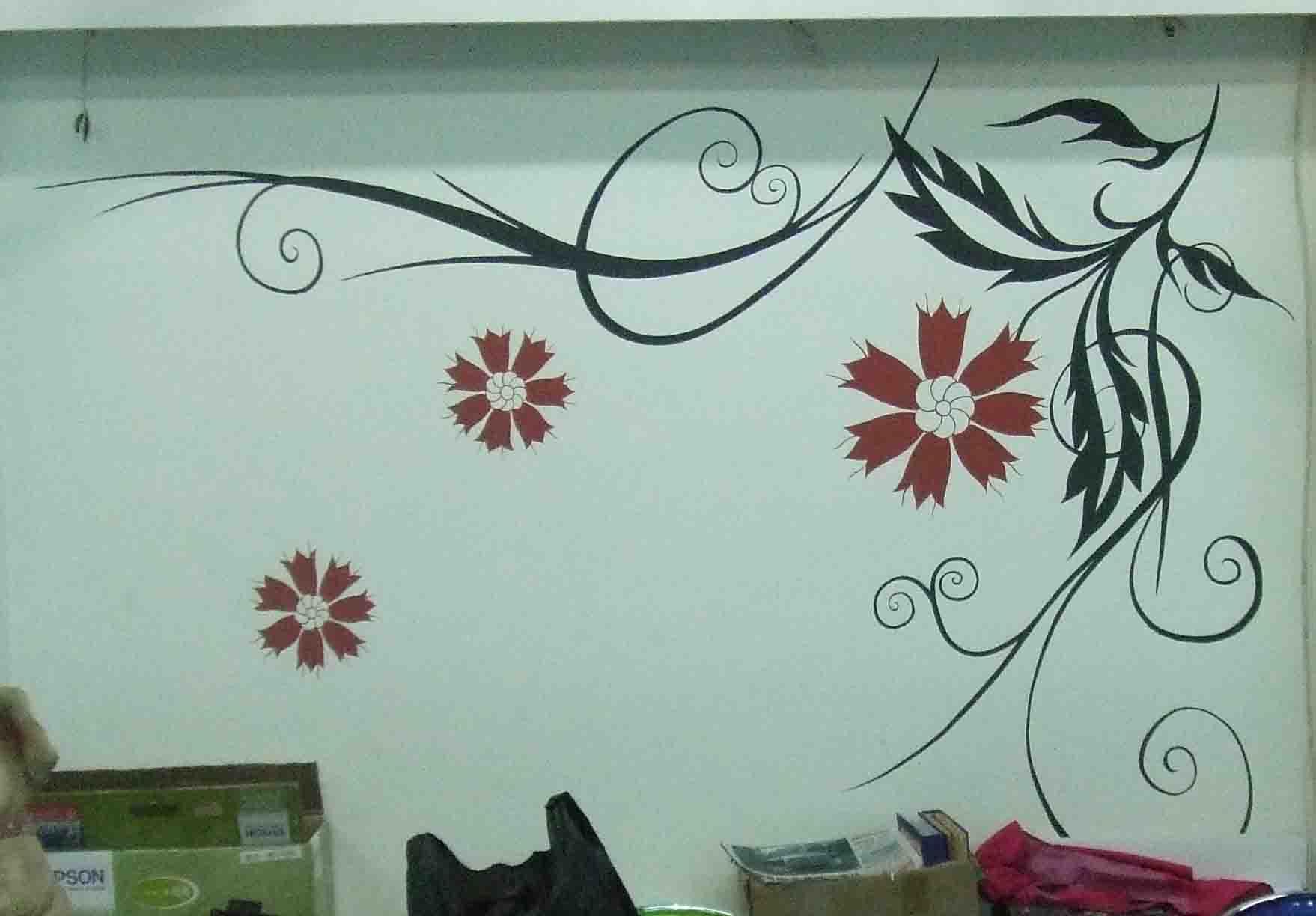 手绘墙画 装饰画 无框画 油画 彩绘鞋