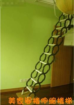 室内阁楼楼梯 顶层阁楼伸缩楼梯 家庭阁楼伸缩楼梯