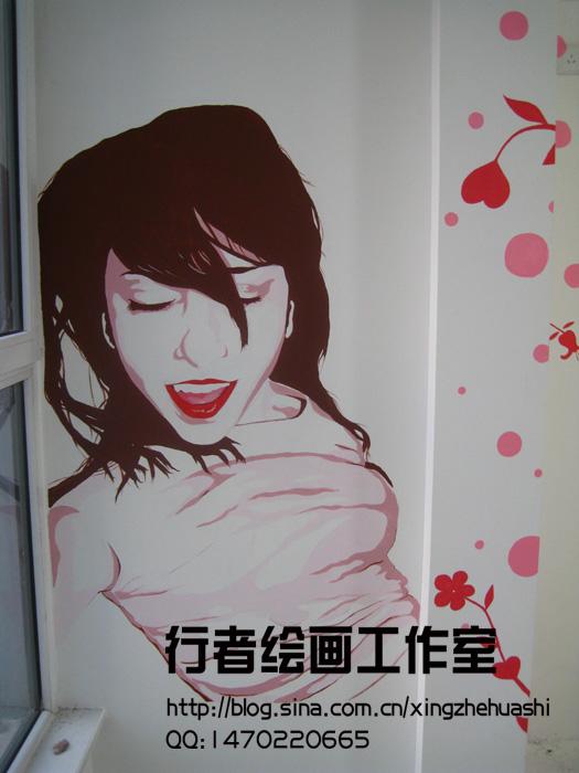 手绘墙画 墙体彩绘