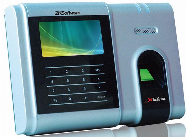 中控x628plus彩屏指纹考勤机 触摸按键