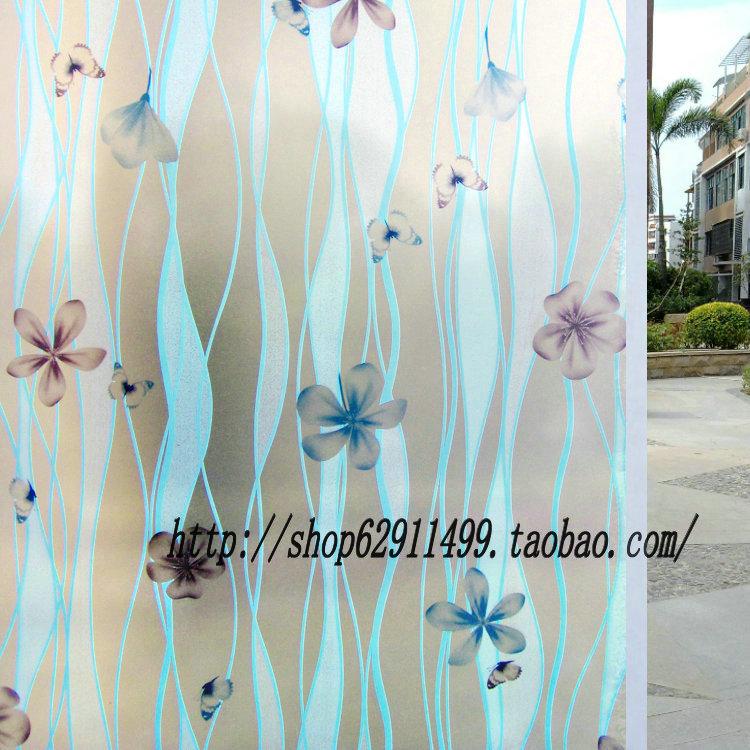 特价 玻璃贴膜 时尚漂亮窗户浴室卫生间磨砂窗花纸9