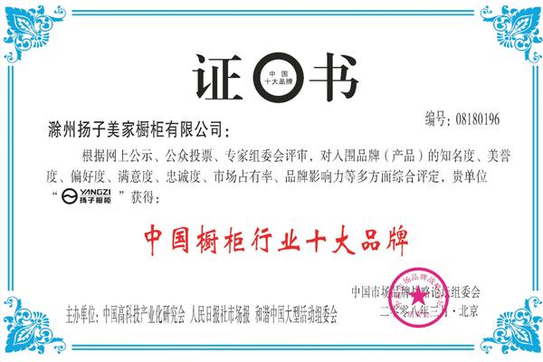 中国橱柜行业十大品牌