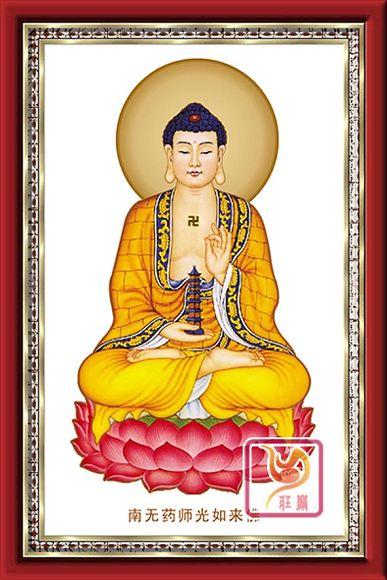 佛教金丝彩砂画 685