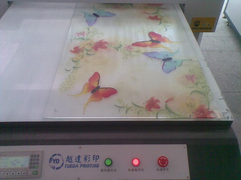 沈阳玻璃橱柜门彩印机