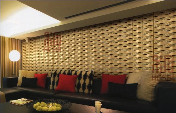 禾石-3D艺术背景墙砖-波浪板