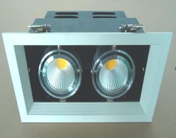 COB车铝格栅射灯2*7W 2*12W