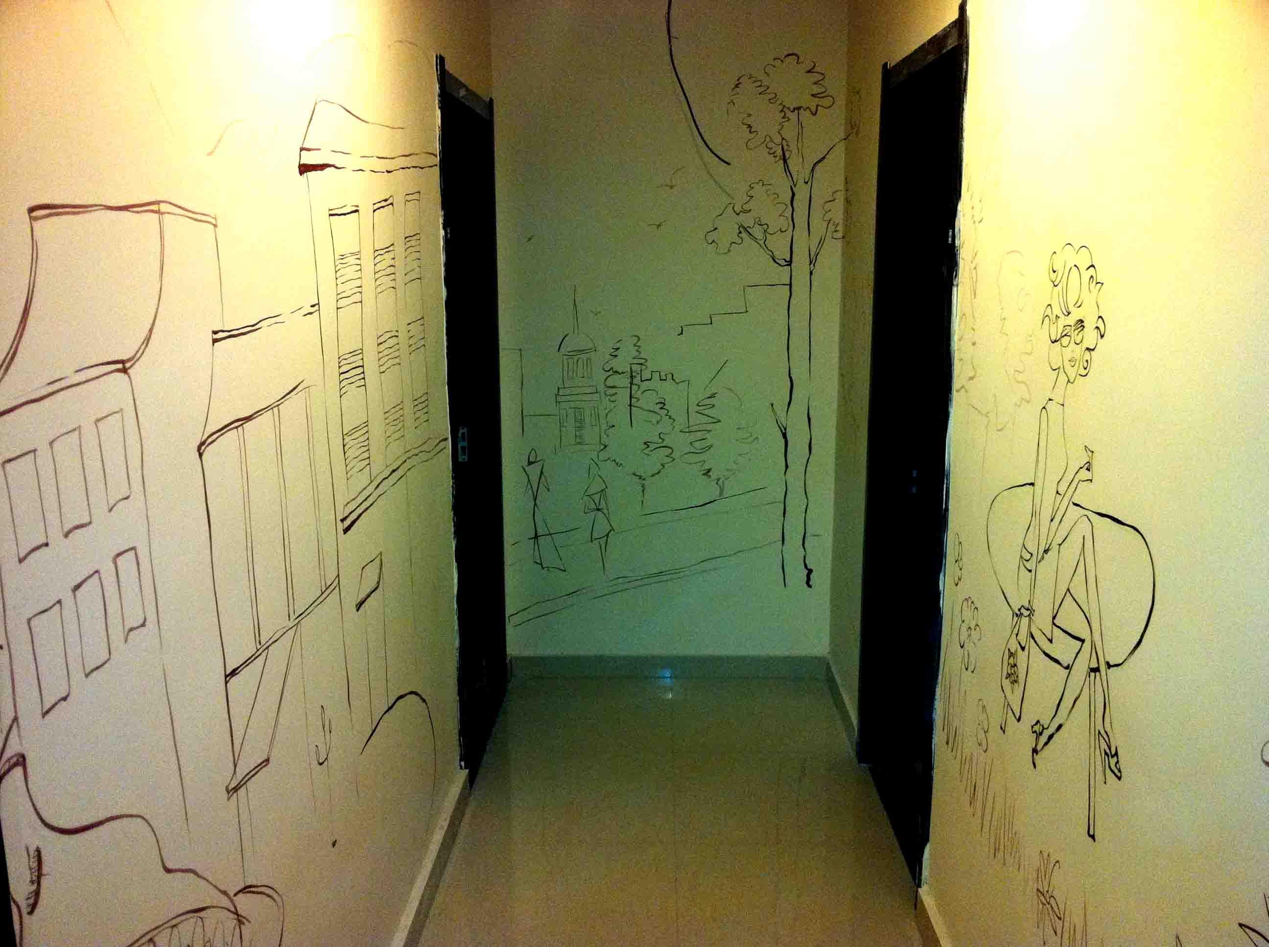 沈阳画欣手绘墙画/墙体