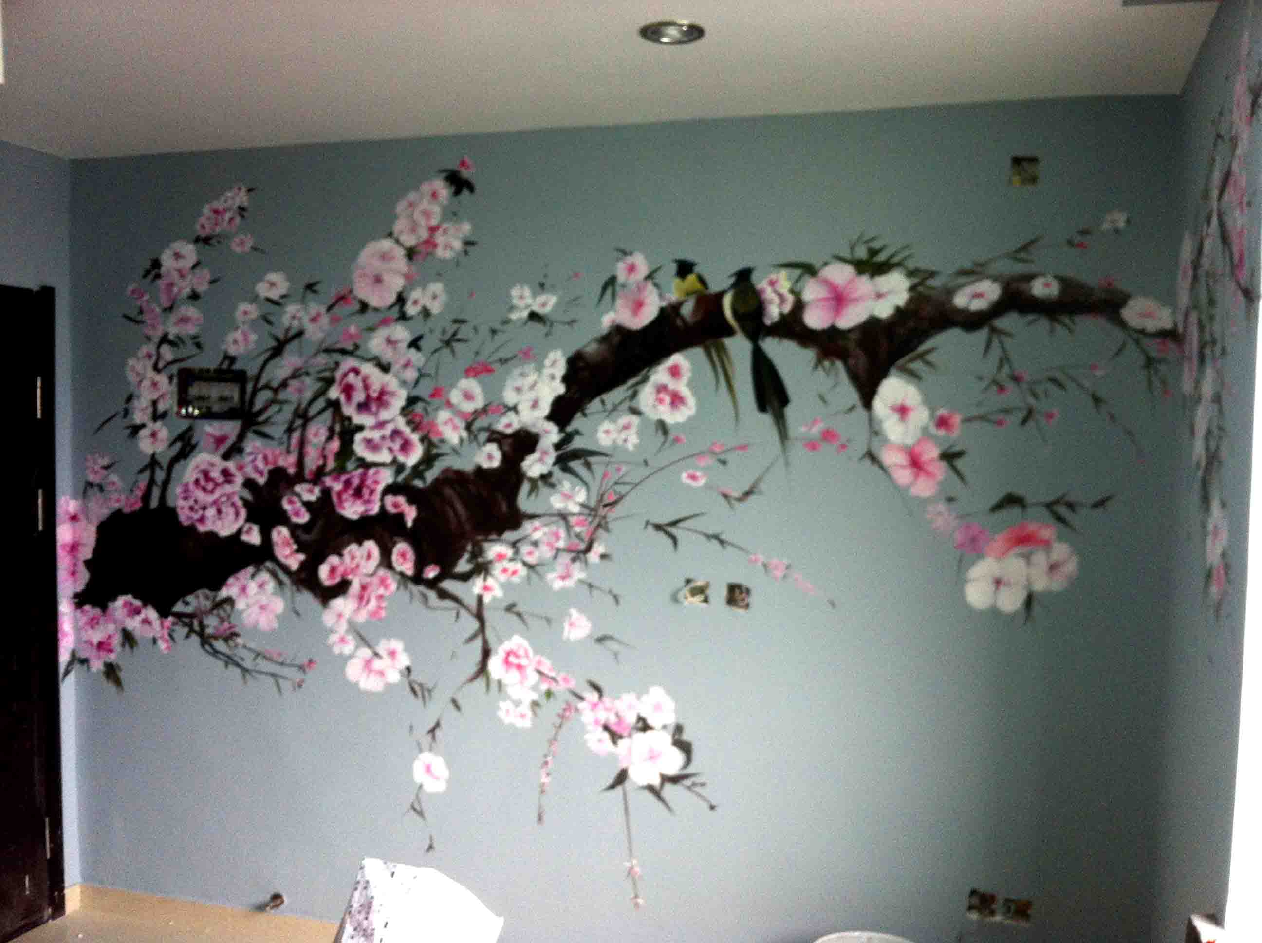 商品展示 手绘墙画