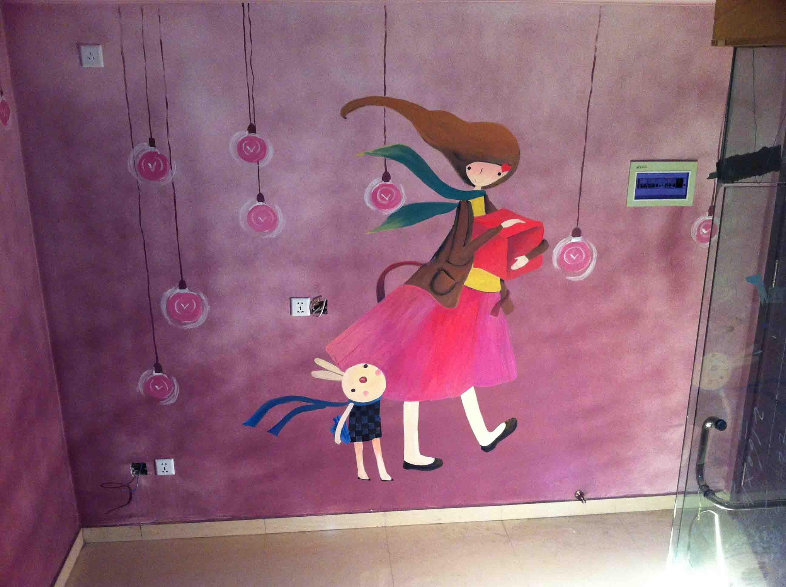 > 手绘墙画