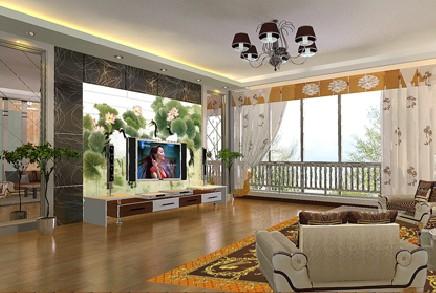 艺彩地板客厅装潢案例