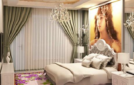 艺彩地板卧室装潢案例