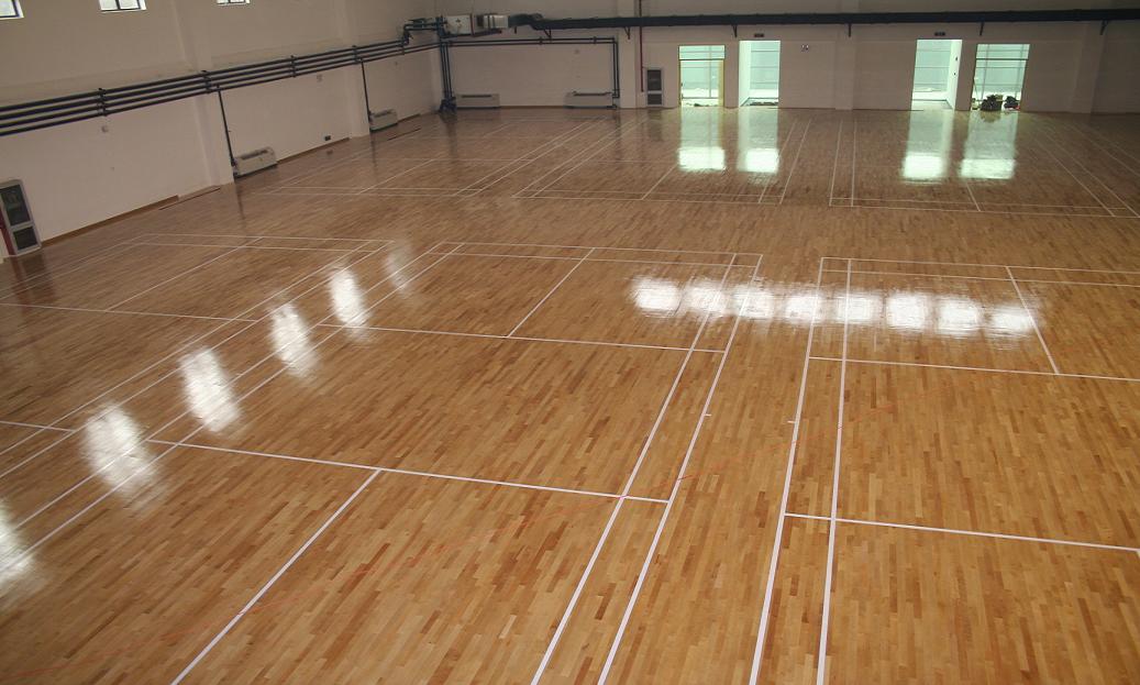篮球场木地板 篮球场专用地板 北京世纪耐德地板股份公司 实木地板