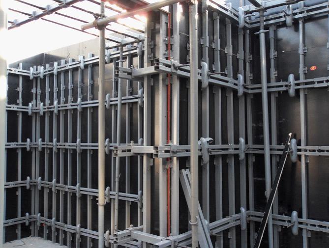 新型建筑模板支撑系统,新型建筑钢性结构模板支撑结构,剪力墙支撑结构