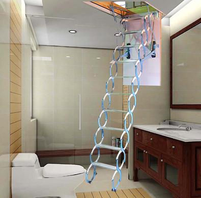 阁楼楼梯多少钱 沈阳最便宜伸缩楼梯 遥控伸缩楼梯