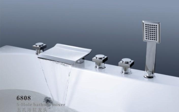 浴缸龍頭五件套6808
