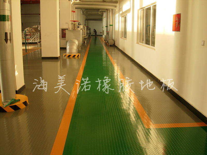 圆浮点橡胶地板 铜钱圆点橡胶地板 船用浮点橡胶地板