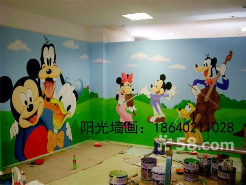 沈阳幼儿园墙壁画图片
