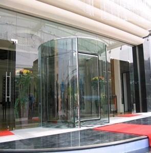 上海自动水晶门维修/玻璃自动旋转门维修厂家