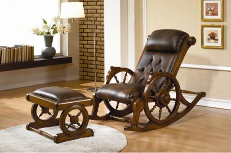 韩国进口桃花芯木YERAM家具--摇椅