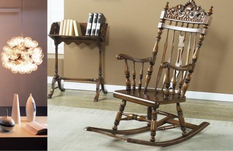 韩国进口桃花芯木YERAM家具--摇椅2