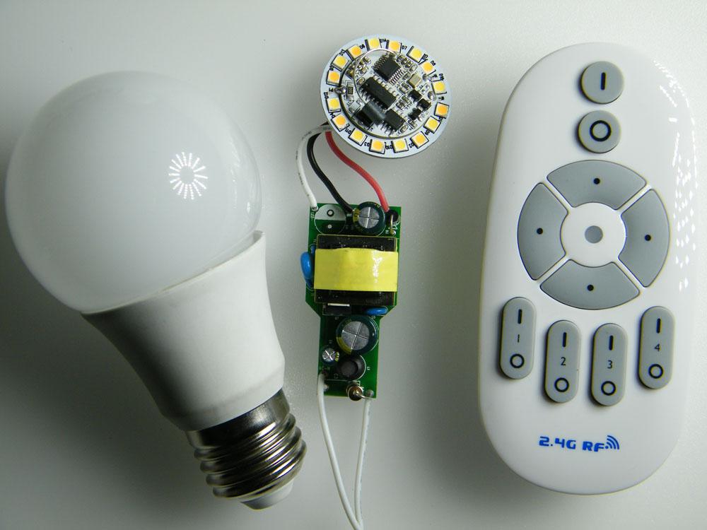 自制遥控led灯电路图