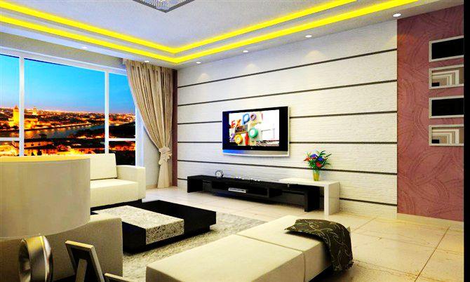 硅藻泥电视背景墙效果图3-产品展示 沈阳硅藻泥公司 硅藻泥十大品牌