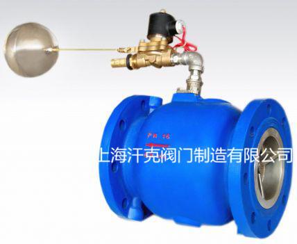 在遥控浮球阀增加了电磁(电动)阀  可设置启闭水位,避免水泵频繁启闭
