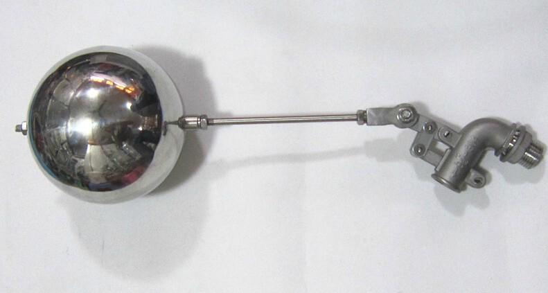 全自动水位控制阀、不锈钢浮球阀、小孔浮球阀、液压浮球阀、水箱浮球阀、黄铜浮球阀 、法兰浮球阀、高压浮球阀、高温浮球阀、塑料浮球阀、进口浮球阀、可调式浮球阀、双杠杆浮球阀 不锈钢法兰浮球阀由曲臂和浮球制动控制水塔或水池的液面,保养简单,灵活耐用,液位控制准确度高,水位不受水压干扰且开闭紧密不漏水。一般采用法兰连接,小、中、大球控制,小球110mm通用为螺纹连接,大球150mm以上插入式为球体穿孔阀杆可穿入,球下面部分用焊片固定高度,上面用螺母拧紧。出水口一般选择中上,适合出水量。