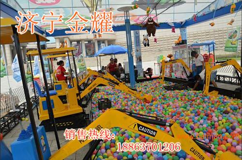 公园儿童娱乐设备 游乐场体验式电动挖掘机