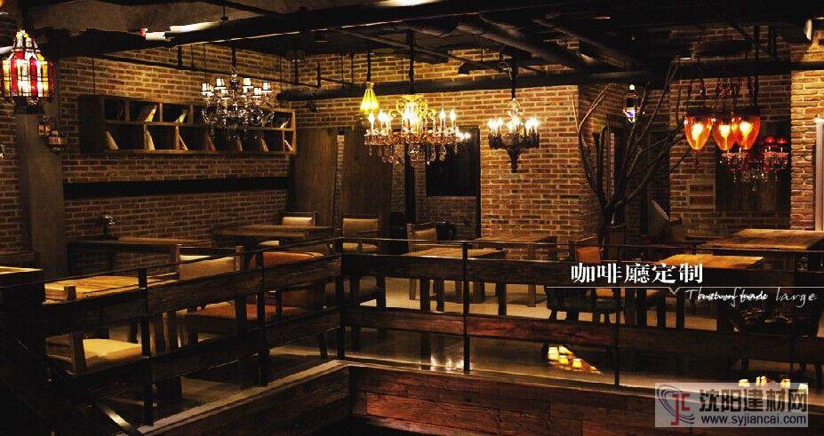 咖啡厅老榆木家具定制案例