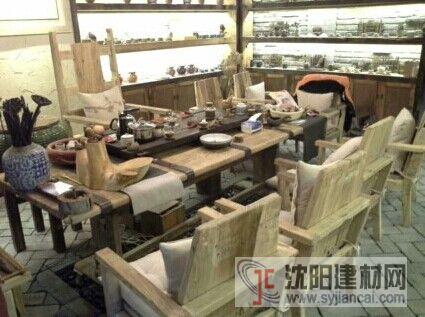 沈阳老榆木的茶室桌椅哪有卖的?
