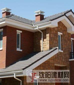 别墅木结构屋檐