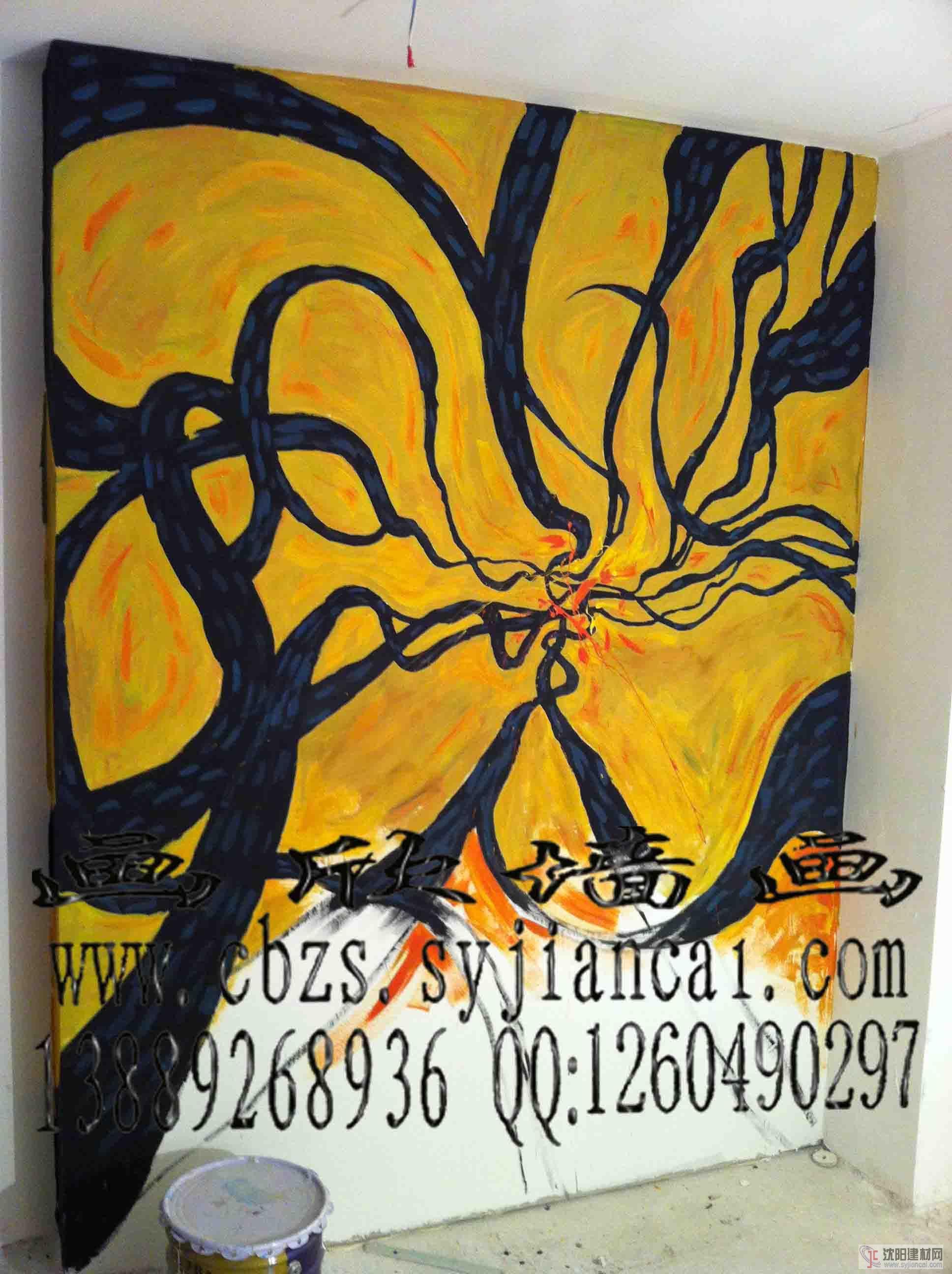 吉林手绘墙画彩绘背景墙价格