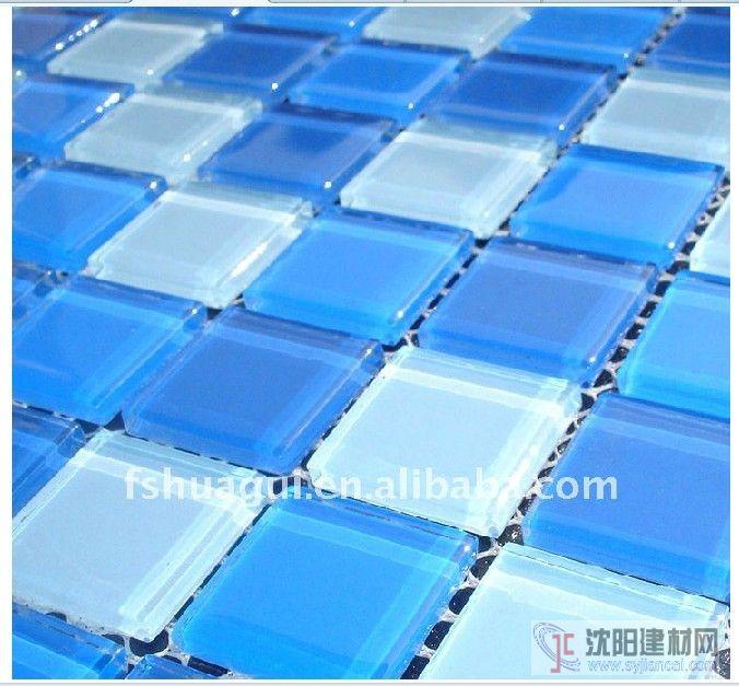 蓝色水池马赛克浴室背景墙装修