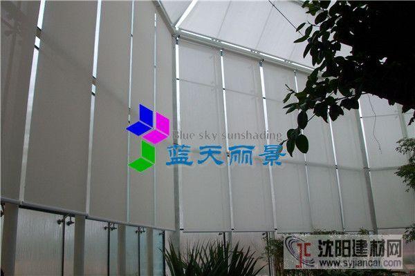 北京御隆会馆玻璃穹顶室内电动卷帘遮阳