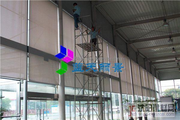 传特公司玻璃幕墙电动卷帘工程案例