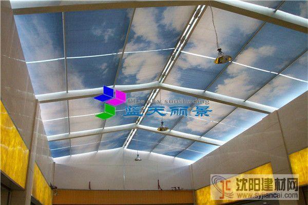 通辽中启广场屋顶FSS电动天棚帘工程