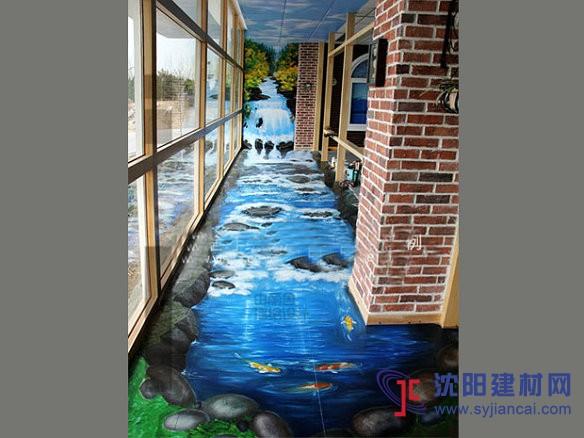 辽宁3d立体画,地画,手绘墙画