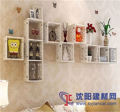 创意格子架套装,墙上置物架